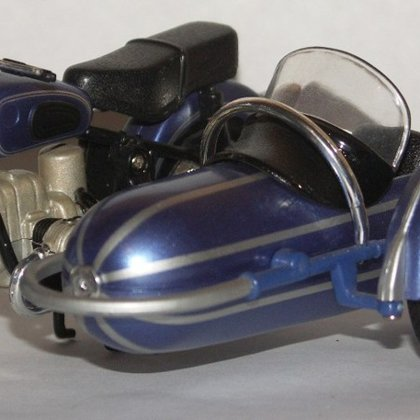 1960 BMW R69S with left sidecar (-)
